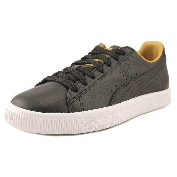 PUMA Womens Clyde Core Leather Leather Low Top Lace Up Fashion Sneakers - 6.5