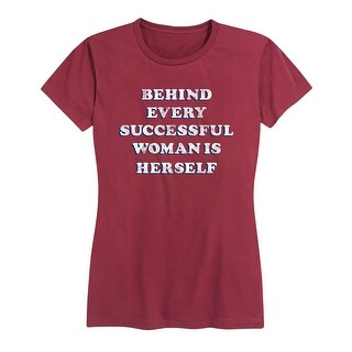 Behind Every Successful Woman - Ladies Short Sleeve Classic Fit Tee