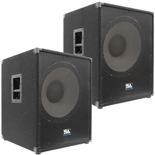 """2 SEISMIC AUDIO 18"""" PA POWERED SUBWOOFER Active Speaker"""