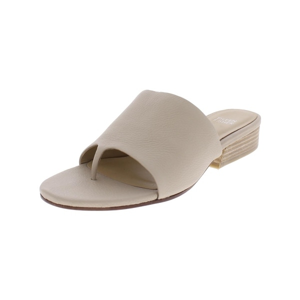 28c89dfc3e55ed Shop Eileen Fisher Womens Beal Slide Sandals Leather Stacked - Free ...