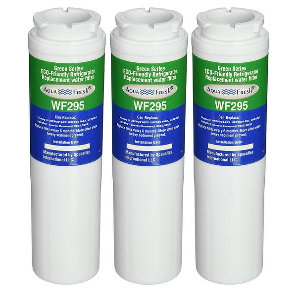 Replacement Water Filter For Kitchenaid Krfc302ess Refrigerator Water Filter By Aqua Fresh 3 Pack Green Overstock 21360319