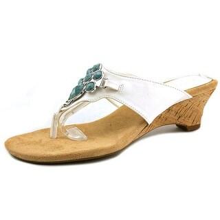 Aerosoles Mound Trip Women Open Toe Synthetic White Wedge Sandal