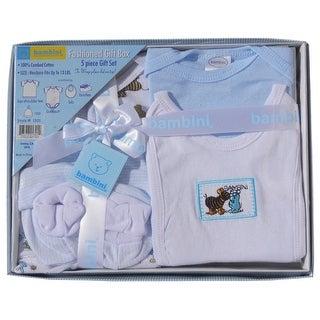 Bambini 5 Piece Gift Box (Blue, Newborn)