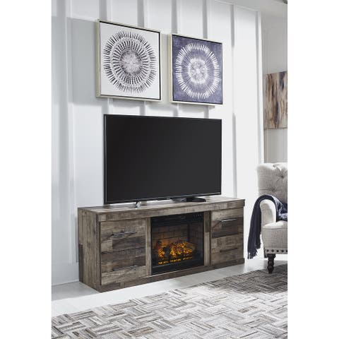 """Derekson 63"""" TV Stand with Electric Fireplace"""