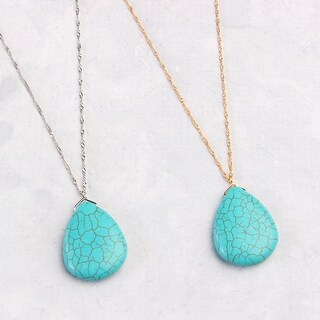 Riah Fashion's Turquoise Pendant Necklace