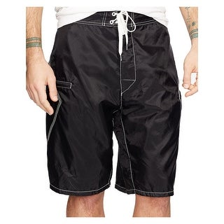 "Denim and Supply Ralph Lauren 11"" Board Shorts Black 32 Waist"
