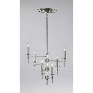 Cyan Design 4180 6 Light Up Lighting Chandelier from the Omega Collection - Polished Nickel