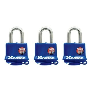 Master Lock 312TRI Covered Laminated Padlock, 1""