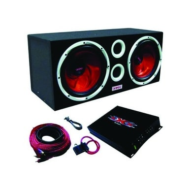 XXX Audio Dual Sub Box and Amp Package with free Wiring Kit