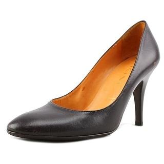 Vicini Dania   Round Toe Leather  Heels