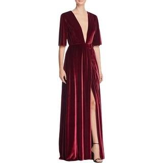Aqua Womens Evening Dress Velvet Side Slit