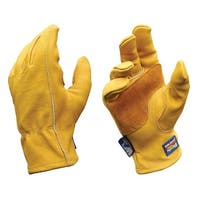 Wells Lamont 1168L Heavy Duty Men's Work Gloves, Large, Gold, Cowhide Leather