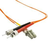 LC/ST OM1 Multimode Duplex Fiber Optic Cable, 62.5/125, 3 meter (10 foot)
