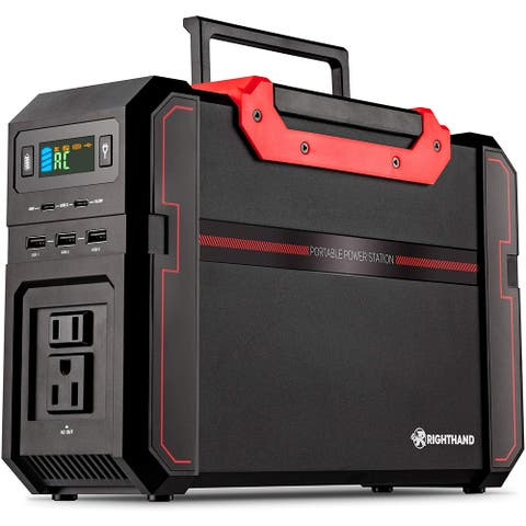 Portable Power Station, 450W Pure Sine Wave Backup Lithium Battery, Dual 110V AC Outlets