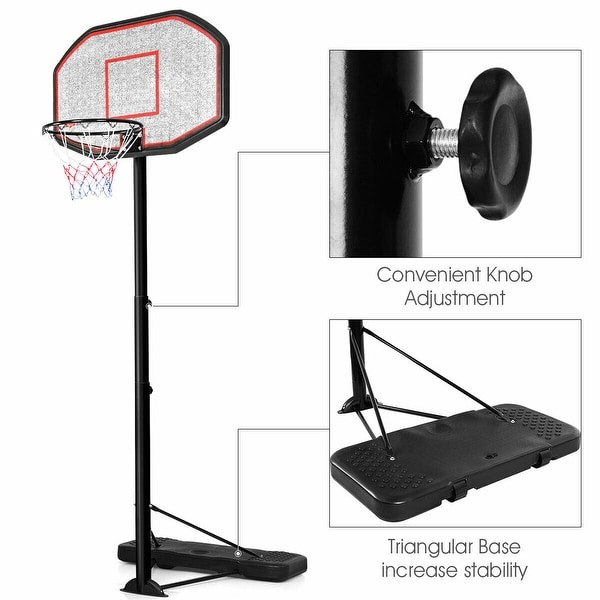 10FT 43 Backboard In//Outdoor Adjustable Height Basketball Hoop System Ship from USA