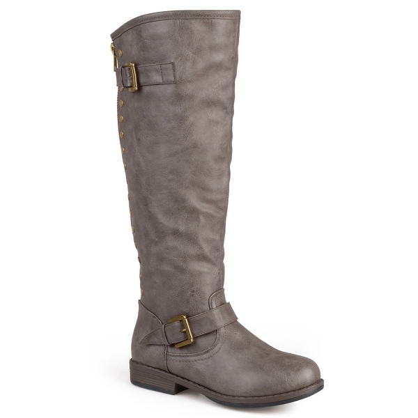 Journee Collection Women's 'Spokane' Red Zipper Riding Boot. Opens flyout.