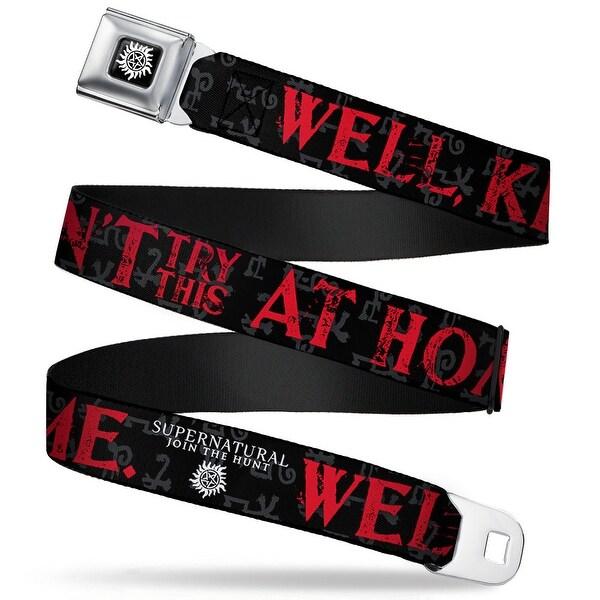 Winchester Logo Full Color Black White Supernatural Well, Don't Try Seatbelt Belt