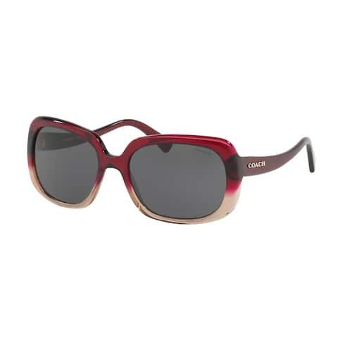 Coach Women's HC8178 548487 57 Dark Grey Solid Plastic Rectangle Sunglasses