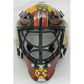 Ed Belfour Signed Chicago Blackhawks Mini Hockey Goalie Mask
