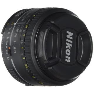 Nikon AF FX NIKKOR 50mm f/1.8D Lens with Auto Focus for Nikon DSLR Cameras - Black|https://ak1.ostkcdn.com/images/products/is/images/direct/09dc9229af3de648e31f28a7acac91273d05646d/Nikon-AF-FX-NIKKOR-50mm-f-1.8D-Lens-with-Auto-Focus-for-Nikon-DSLR-Cameras.jpg?impolicy=medium