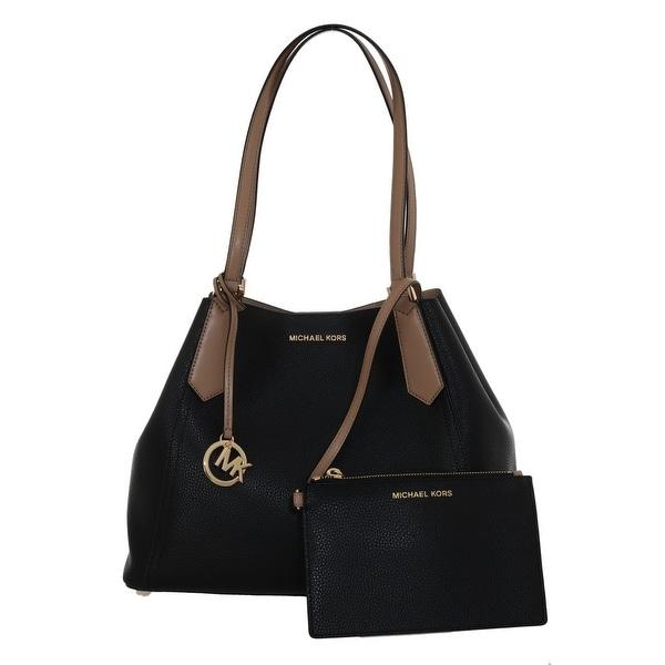 96c16b3c448ea8 Shop Michael Kors Handbags Black KIMBERLY Leather Shoulder Bag - One ...