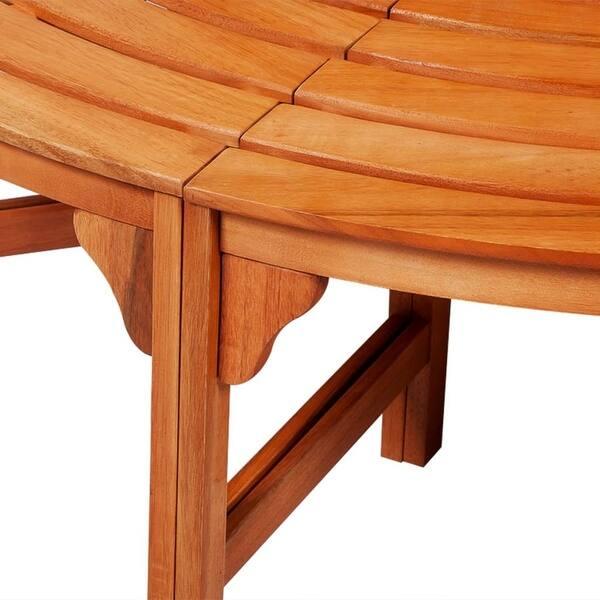 Miraculous Shop Vidaxl Solid Wooden Tree Bench Surround Garden Pdpeps Interior Chair Design Pdpepsorg