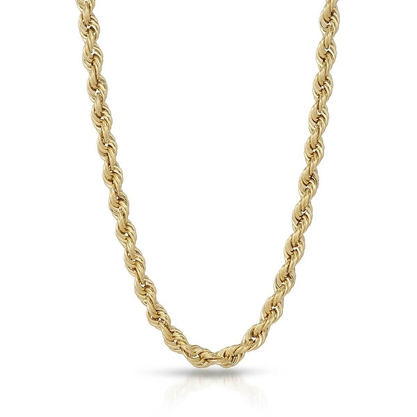 "Mcs Jewelry Inc 10 KARAT YELLOW GOLD HOLLOW ROPE CHAIN (24"")"