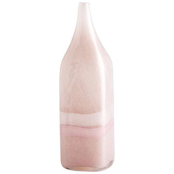 """Cyan Design 05880 14"""" Large Tiffany Vase - Pink / White"""