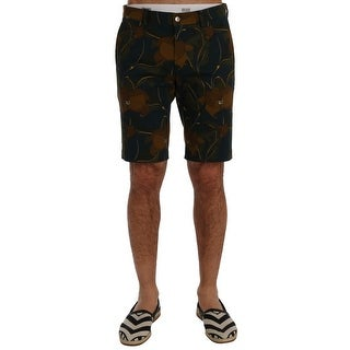 Dolce & Gabbana Multicolor Floral Cotton Stretch Shorts - it48-m