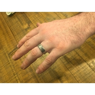 THORSTEN - STEALTH Tungsten Carbide Wedding Ring with Engraved Digital Camouflage