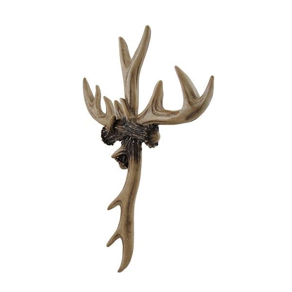 Rustic Deer Antler Wall Cross