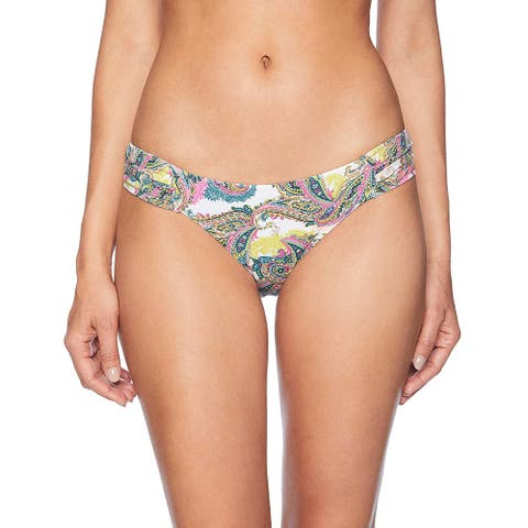 OndadeMar Women Orissa Swimwear Printed Bikini Bottom, Multi, S - Small