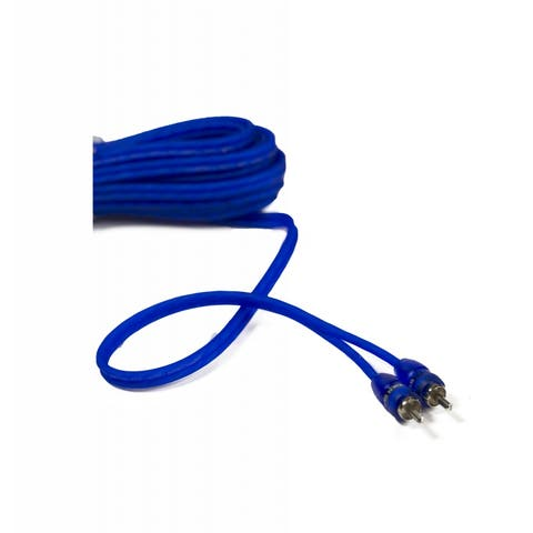 stinger 1.5ft blue comp series twisted rca