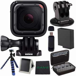 GoPro HERO5 Session CHDHS-501 + Replacement Lithium Ion Battery + Case for GoPro HERO4 and GoPro Accessories Bundle