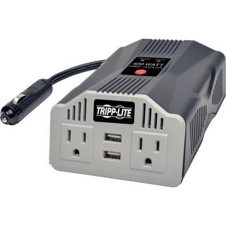 Tripp Lite PV400USB Tripp Lite PowerVerter Ultra Compact Car Inverter with Outlets - Input Voltage: 12 V DC - Output Voltage: