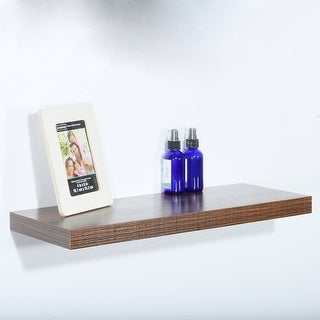 Modern and Contemporary Antique Walnut Floating Shelf - 23.62*9.25*1.5 inches