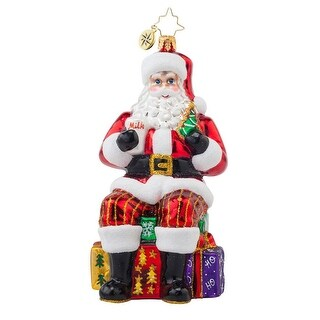 Christopher Radko Glass Taking a Break Santa Christmas Ornament #1017657