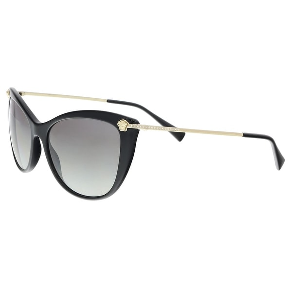 477d095241a Versace VE4345B GB1 11 Black Cat Eye Sunglasses - 57-17-140. Click to Zoom