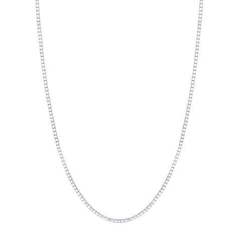 14K White Gold Box Chain Necklace 0.8mm, 16-20""