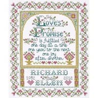 """Loves Promise Counted Cross Stitch Kit-8""""X10"""" 14 Count"""