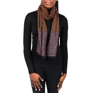 Missoni SC12WMD5855 0002 Orange Wool Blend Womens Scarf