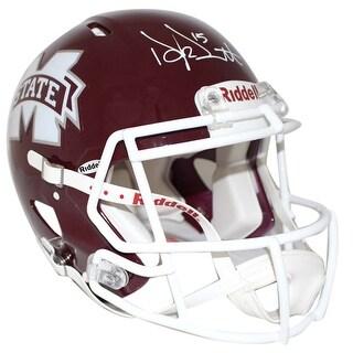 Dak Prescott Autographed Mississippi State Bulldogs Authentic Helmet JSA