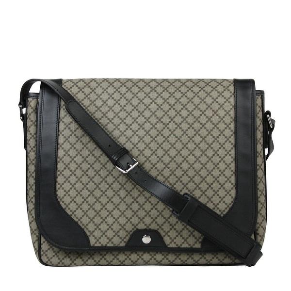 8b5979242d69 Gucci Men's Supreme Beige/Ebony Diamante Canvas Messenger Bag 295251  9769