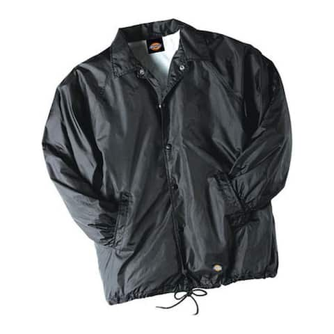 Dickies Men's Snap Front Nylon Jacket Black