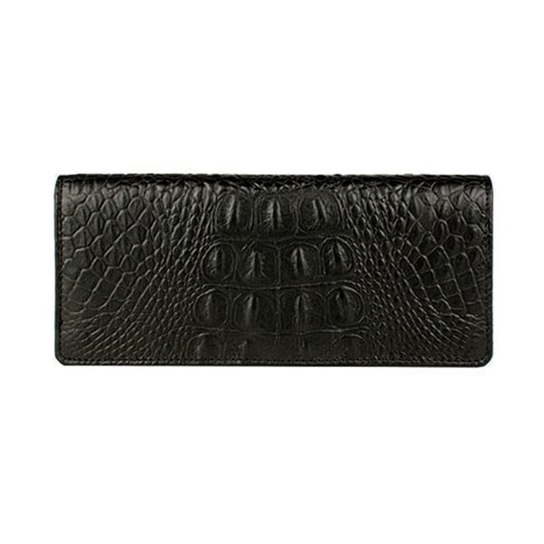 Scully Western Mens Wallet Croco Ostrch Etrusco Lizard Black - One size