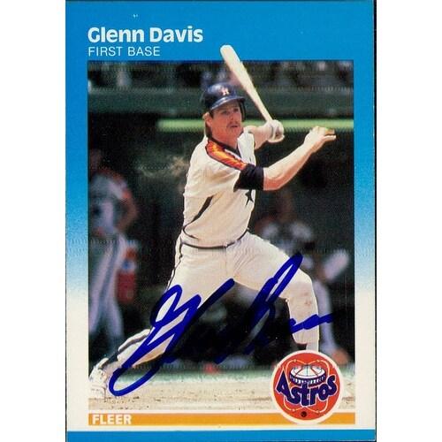 Signed Davis Glenn Houston Astros 1987 Fleer Baseball Card Autographed