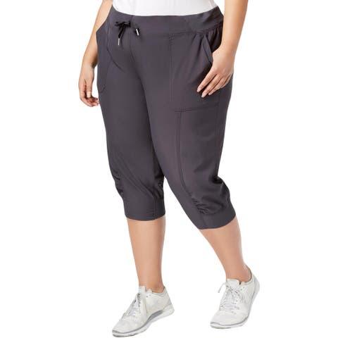 Calvin Klein Performance Womens Plus Capri Pants Running Fitness
