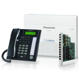 Panasonic KX-TA824-7736B Advanced Hybrid Telephone / Intercom System + 3 Hybrid Phones (KX-T7736)