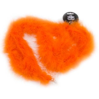 Orange - Marabou Feather Boa Solid Color Medium Weight 72""