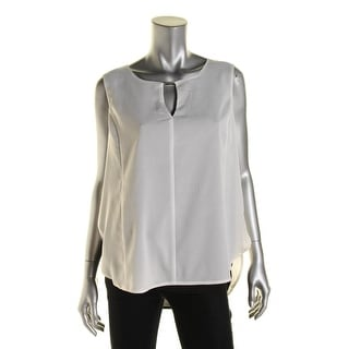 Calvin Klein Womens Sleeveless Layered Contrast Pullover Top